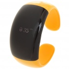 Stylish Bluetooth V2.1 Bracelet w/ Vibration Function + Digital Time - Yellow
