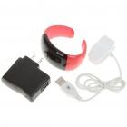 Stylish Bluetooth V2.1 Bracelet w/ Vibration Function + Digital Time - Red