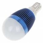 E14 6500K 3W 260-Lumen White LED Light Bulb - Dark Blue (85~245V)