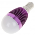 E14 6500K 3W 260-Lumen White LED Light Bulb - Purple (85~245V)