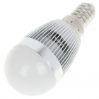 E14 6500K 3W 260-Lumen White LED Light Bulb - Silver (85~245V)