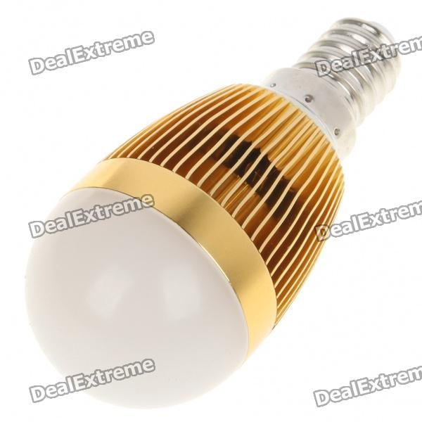 E14 3500K 3W 260-Lumen Warm White LED Light Bulb - Golden (85~245V) e27 3w 3 led 260 lumen 3500k warm white light bulb ac 85 245v