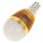E14 3500K 3W 260-Lumen Warm White LED Light Bulb - Golden (85~245V)