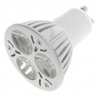 GU10 6500K 3W 260-Lumen 3-LED White Light Blue (85~245V)