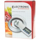 "Stylish 2.0"" LCD Digital Kitchen Scale (3KG Max / 1x CR2032)"