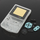 Full replacement housing case with buttons for game boy color/gbc - transparent