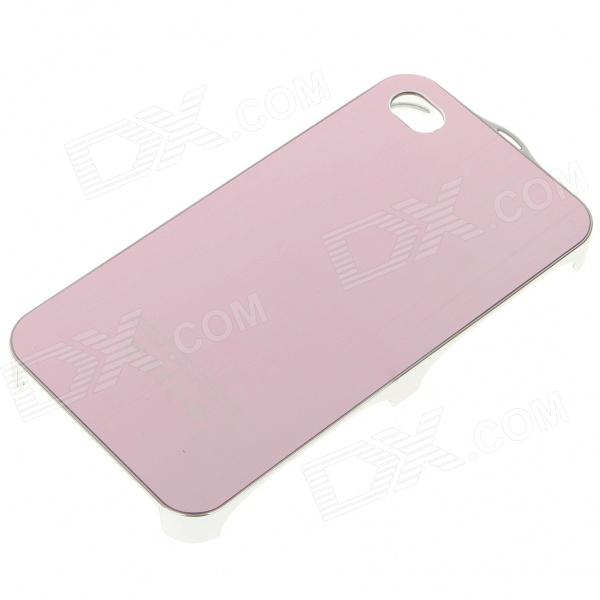 Stylish Metal Protective Back Case for Iphone 4 - Pink cartoon pattern matte protective abs back case for iphone 4 4s deep pink