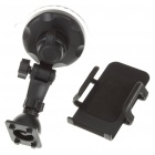 Universal Plastic Car Swivel Mount Holder with Suction Cup for Cell Phone / GPS - Black