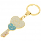 Cute Heart and Key Style Zinc Alloy Keychain