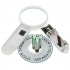 65mm 4x Magnifier w/ 2-LED - White (3 x AAA)