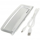 Folding USB Charging Docking Station with USB Cable for iPad/iPad 2 - Silver