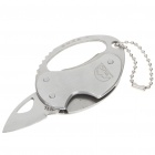 Compact Fashion Small Knife with Bottle Opener & Keychain - Silver