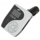 "1.2 ""LED-Auto-MP3-Player mit FM / IR Remote Controller / USB / TF / SD / MMC - Schwarz + Silber"
