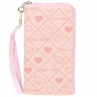 Cute Bear Pattern Protective Carrying Bag for Cell Phone - Pink