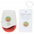 Wireless PIR Sensor Motion Detector Door Chime Bell with Anti-Theft Security Alarm Set