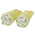 4-LED 12V Vehicle Signal Lights (2-Pack Yellow)