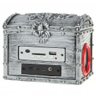 Vintage Brocade Box Style MP3 Music Speaker Player with SD/MMC/FM/USB/Remote Controller