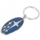 3D Subaru Logo Keychain - Blue + Silver