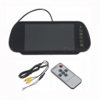 "Universal 7"" TFT LCD Rearview Mirror Monitor with Remote Controller"