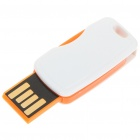 Mini Rotatable USB 2.0 Flash/Jump Drive - White + Orange (4GB)