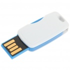 Mini Rotatable USB 2.0 Flash/Jump Drive - White + Blue (4GB)