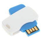 Mini Rotatable USB 2.0 Flash/Jump Drive - White + Blue (8GB)