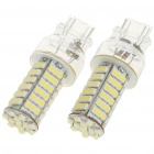 T25 6500K 5W 460-Lumen 102x3528 SMD LED Car White Light Bulbs (Pair / 12V)