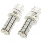 T25 5W 30x5050 LED Car Red Light Bulbs (Pair / 12V)