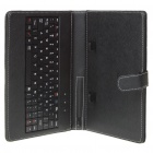 "80-Key QWERTY Wired Keyboard w/ Protective Leather Case for 7~8"" Tablet PC - Black"