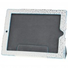Propitious Clouds Pattern Protective PU Leather Case for   Ipad 2 - White + Silver