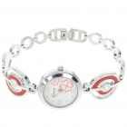 Stylish Lady's Stainless Steel Quartz Wrist Watch - Red (1 x LR626)