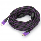 Gold Plated 1080P HDMI V1.3 Male to Male Shielded Connection Cable - Purple (10M-Length)