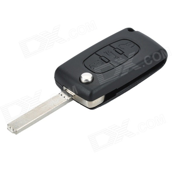 Replacement Folding 3-Button Transponder Smart Key Casing for Citroen