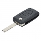 Replacement Folding 3-Button Transponder Smart Key Casing for Peugeot 407