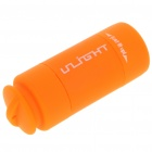 Mini USB Rechargeable 20-Lumen LED Flashlight w/ TF Card Reader - Orange