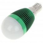 E14 3W 6500K 260-Lumen 3-LED White Light Bulb (85 ~ 245V)