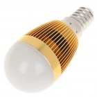 E14 3500K 3W 260-Lumen 3-LED Warm White Light Bulb (85~245V)