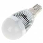 E14 6500K 3W 260-Lumen 3-LED White Light Bulb (85~245V)