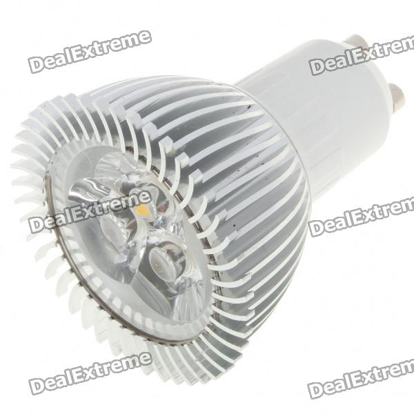 GU10 3500K 3W 260-Lumen 3-LED Warm White Light Bulb (85~245V)