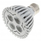 E27 6500K 4W 350-Lumen 4-LED White Light Bulb (85~245V)