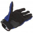 Stylish Full-Finger Racing Gloves - Blue + Black (L-Size/Pair)