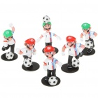 Football Team Super Mario Figure Toys - England (6-Piece Set)