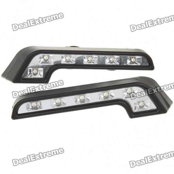 4.5W 6700K 160-Lumen 6-LED White Light Daytime Running Lamps for Car (Pair/DC 12V) nokia 6700 classic illuvial