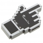 Unique Hand Style USB 2.0 TF/M2 Card Reader - Black + Silver