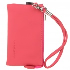 Fashion Soft Leather Cell Phone/Change Pouch Bag - Watermelon Red