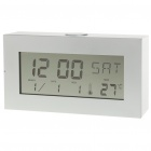 "4.8"" Mirror Type LCD Alarm Clock - Silver + White"