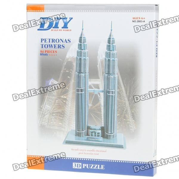 Intellectual Development DIY 3D Paper Puzzle Set - Petronas Towers