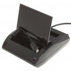 USB 2.0 Battery Charging Cradle + Cell Phone Charging Docking Station w/ Power Adapter for HTC HD7