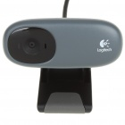 Genuine Logitech USB 2.0 1.3MP Webcam w/ Microphone - Grey