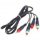 Genuine PowerSync 2 x RCA Male to Male Connection Cable (1.8M-Length)
